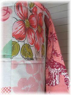 Vintage Tablecloth Tote Bag