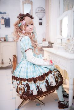 Sweet Lolita in Chess Chocolate