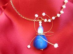 """Pearl rosario and Quarz necklace"""
