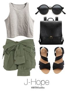 """Zoo with J-Hope"" by btsoutfits ❤ liked on Polyvore featuring Faith Connexion and H&M"