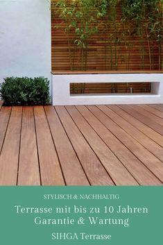 Nachhaltige, premium Holzterrassen in verschiedene Ausstattungen. Neutral, Garage Doors, Deck, Outdoor Decor, Home Decor, Sustainability, Lawn And Garden, Decoration Home, Room Decor