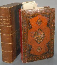 ABU AL-QASIM FIRDAWSI (D. 1025AD):  SHAHMAMA SAFAVID IRAN 17th Century.  Twenty-Five lines of black nasta'liq script written in four columns, margins in blue, red, black and gold, 32 painted miniatures, headings in red. - Realized Price: $76,050.00