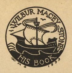 Ex libris by Wilbur Macey Stone (1862-1941) for himself, 1899