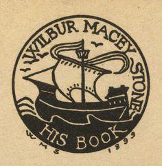 Ex libris by Wilbur Macey Stone (1862-1941) for himself, 1899