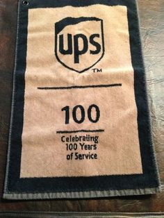 74f3f46c863 (UPS) Golf Towel United Parcel Service ~100 years of Service Celebrating  2007-