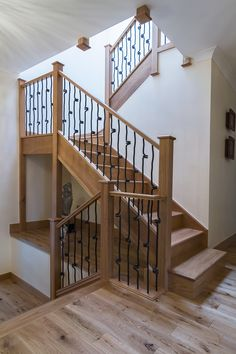 View our Gallery to see the wide variety of staircases that we can offer. Staircase Design Modern, Modern Design, Loft Staircase, Staircases, Winder Stairs, Metal Spindles, Four Square Homes, Glazed Walls, Newel Posts
