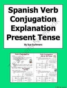 Spanish 2 - Verb Conjugation Grids | Verb tenses, Critical ...