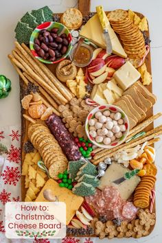How to make a DIY Christmas Cheese board for a party complete with what cheese to buy, how to make it festive, and more! How to make a DIY Christmas Cheese board for a party complete with what cheese to buy, how to make it festive, and more! Party Food Platters, Party Trays, Snacks Für Party, Cheese Platters, Party Appetizers, Christmas Cheese, Christmas Snacks, Christmas Cooking, Diy Christmas