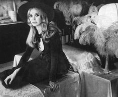 theswinginsixties:  Britt Ekland wearing Biba, in Biba.