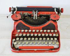 leopard typewriter corona red Vintage skin