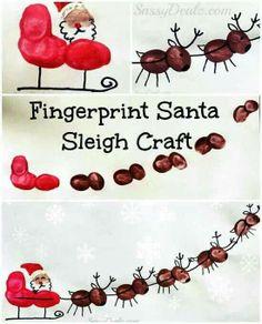 Fingerprint Santa sleigh