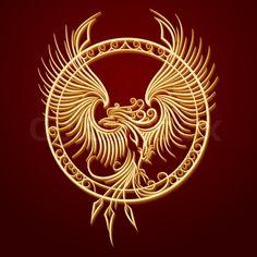 Phoenix Emblem in Circle. Phoenix Bird with rising wings in a circle. Phoenix Design, Phoenix Tattoo Design, Phoenix Images, Phoenix Art, Phoenix Vector, Bird Design, Design Art, Body Art Tattoos, Tribal Tattoos