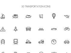 Freebie - 30 Transport Icons