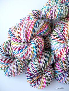 handspun rainbow self-striping yarn // rivulettecraft