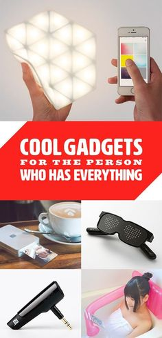 Cool gadgets for the person who has everything! gift 25 Amazingly Cool Gadget Gifts You May Want To Keep For Yourself Gadget Gifts For Men, Tech Gifts For Men, Cool Tech Gifts, Cool Gifts For Women, Christmas Gifts For Women, Creative Gifts, Gifts And Gadgets, Gofts For Men, Gift Ideas For Women
