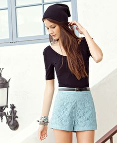 Just bought some lace shorts like these...they are so cute.