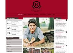 Private School Template - Give students and parents a warm welcome with this friendly and professional template. This is the perfect place to describe your programs, share news and photos, and promote upcoming events.