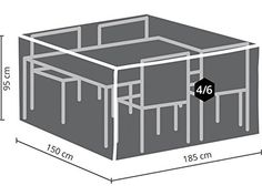 Perel Garden Ocgs Case For Rectangular Furniture Set SCART-M; 185x 150x 95cm Rattan Furniture, Furniture Covers, Garden Furniture, Furniture Sets, Furniture Design, Garden Yard Ideas, Garden Tools, Outdoor Cover, Yard Design