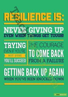 Resilience Poster to hang in your classroom...