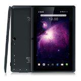Dragon Touch Y88X Plus 7'' Quad Core Google Android 4.4 KitKat Tablet PC, IPS Display, HD Screen 1024 x 600, 8 GB, Bluetooth, Dual Camera, Netflix, Skype, 3D Game Supported - Graphite Black @ rlmenterprisessolutioninc.com