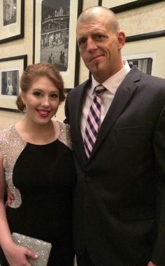 Dustin Runnels (Goldust) & his daughter Dakota Runnels at the WWE Hall of Fame Ceremony