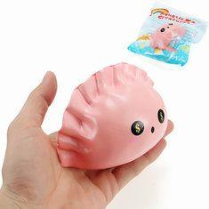 Eric Squishy Dumpling Dollar Eyes Jiaozi 13cm Slow Rising Original Packaging Collection Gift Decor Toy