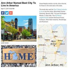 Michiganders know that the Great Lakes State is a great place to live but now one local city is getting high praise from a national ratings site. Niche.com  a website that evaluates and ranks cities their neighborhoods and school systems  released a list this week of which cities are the best to live in throughout the United States  with Ann Arbor Michigan coming in at the top spot. Grand Rapids checks in at No. 68 on the list for those on the west side of the state. The study also said the…