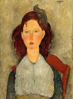 Seated Young Girl (1918) by Amadeo Modigliani (birdcagewalk)