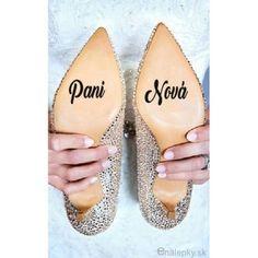 Nálepky na svadobné topánky - Nové priezvisko 1f7965393ad