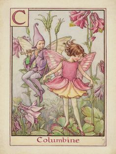 Columbine Fairy Art Print by Cicely Mary Barker at King & McGaw