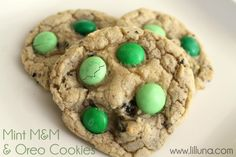 Mint M & M and Oreo Cookies -