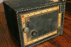 Antique Victorian in wall safe box