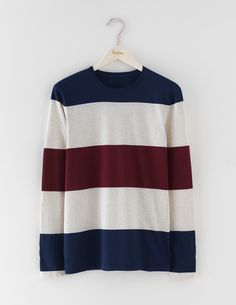 Boden Long Sleeve Stripe T-shirt Bright Not your average long-sleeved, crew-neck tee. This one comes in supersoft, high-quality cotton with an eye-catching colourblock stripe that adds interest. Layer up and let it peek out under shirts. http://www.MightGet.com/january-2017-13/boden-long-sleeve-stripe-t-shirt-bright.asp