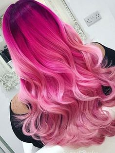 34 stunning pink ombre hair color ideas for women in y .- 34 stunning pink ombre hair color ideas for women in # stunning # for - Bold Hair Color, Cute Hair Colors, Pretty Hair Color, Hair Dye Colors, Unique Hair Color, Ombre Hair With Color, Amazing Hair Color, Ombre Colour, Oval Face Hairstyles