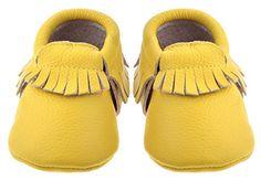 Sayoyo Premium Baby Quasten Weiches Leder Lauflernschuhe Mädchen Krabbelschuhe Babyschuhe Gelb - http://on-line-kaufen.de/sayoyo/sayoyo-premium-baby-quasten-weiches-leder-gelb