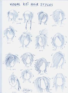 VISUAL KEI HAIR STYLE Drawing tutorial art how to draw