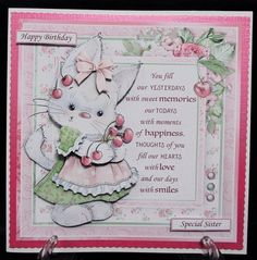 - This bumper kit contains 4 mini kits. (NOTE Each kit is also available on a separate listing, see related items below) The m. Decoupage, Another Year Older, Bank Holiday Weekend, Small Cards, Cute Bunny, Happy Anniversary, Blank Cards, Cute Cards, Happy Mothers Day