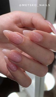 #6. Neutral Nails Looking for the perfect neutral acrylic nails design? These simple and shiny neutral designs will give your almond-shaped a good kick. This designs such a...