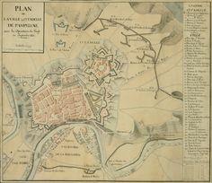 """""""Plan de la ville & citadelle de Pampelune avec les operations du siege en septembre 1823"""" (1823)"""