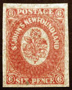 Newfoundland #20 Rose 6p 1861-62  XF Faintly Used LH Gem