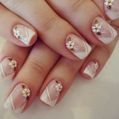 Discover thousands of images about Sandrinha Silva Bella Nails, Flower Nail Art, Beautiful Nail Art, Lip Art, French Nails, Nail Arts, Wedding Nails, Beauty Nails, Pretty Nails