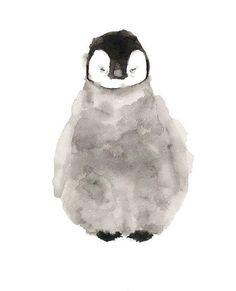 Pinguin-Aquarell-Print