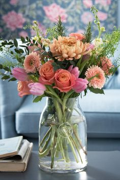 Best known for iconic floral prints, Laura Ashley are introducing their new fresh flowers range, available at Next. Carefully selected to create a wild yet sophisticated look, this bouquet is a collection of peach and coral blooms in a beautifully presented gift bag. Featuring an arrangement of chrysanthemum blooms, roses, stocks, germini, tulips, rosemary, eucalyptus and greenbell, this statement bouquet will make a stunning gift for all occasions.