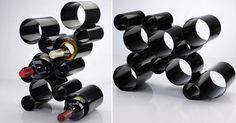 DIY wine rack.