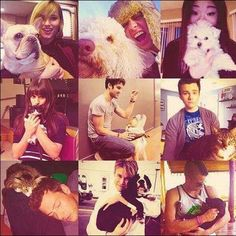 Glee Cast (with animals)