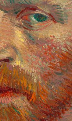 """Détail de l'""""Autoportrait"""" 1887 de Detail of the """"Self-Portrait"""" 1887 of Van Gogh Affiche – Fresque – Peinture Vincent Van Gogh, Van Gogh Wallpaper, Painting Wallpaper, Screen Wallpaper, Van Gogh Arte, Painted Vans, Van Gogh Paintings, Famous Art Paintings, Art Hoe"""