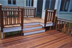 Deck railing ideas will be hard in the time of too many considerations composed. It does not mean that it& The post The Steps of Considering Deck Railing Ideas appeared first on Amazing Home Decor. Wood Deck Railing, Deck Railing Design, Deck Design, Railing Ideas, Deck Stairs, Outdoor Deck Decorating, Deck Seating, Deck Colors, Front Deck