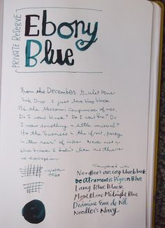 Private Reserve Ebony Blue writing sample