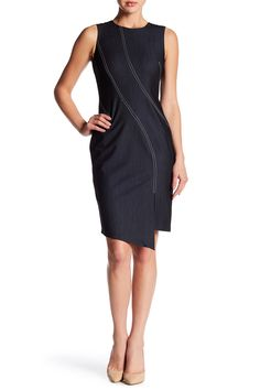 Top Stitch Stretch Denim Dress by Modern American Designer on @nordstrom_rack