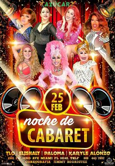 Azucar's Noches de Cabaret Every Sunday Night – Azucar's Noche de Cabaret Hosted by Marytrini, La emperatriz del Transformismo, Starring Josefina, La Mujer de los Globos and the Beautiful Poizon Ivy, Special Guest Stars, Tlo Ivy, Elishaly de Witches, Paloma Grimaldy and Karile Alonso… Of Course I will be there Shooting The Best of Miami […] The post Azucar's Noche de Cabaret appea…